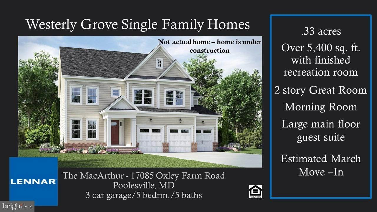 Single Family Homes por un Venta en Poolesville, Maryland, 20837 Estados Unidos