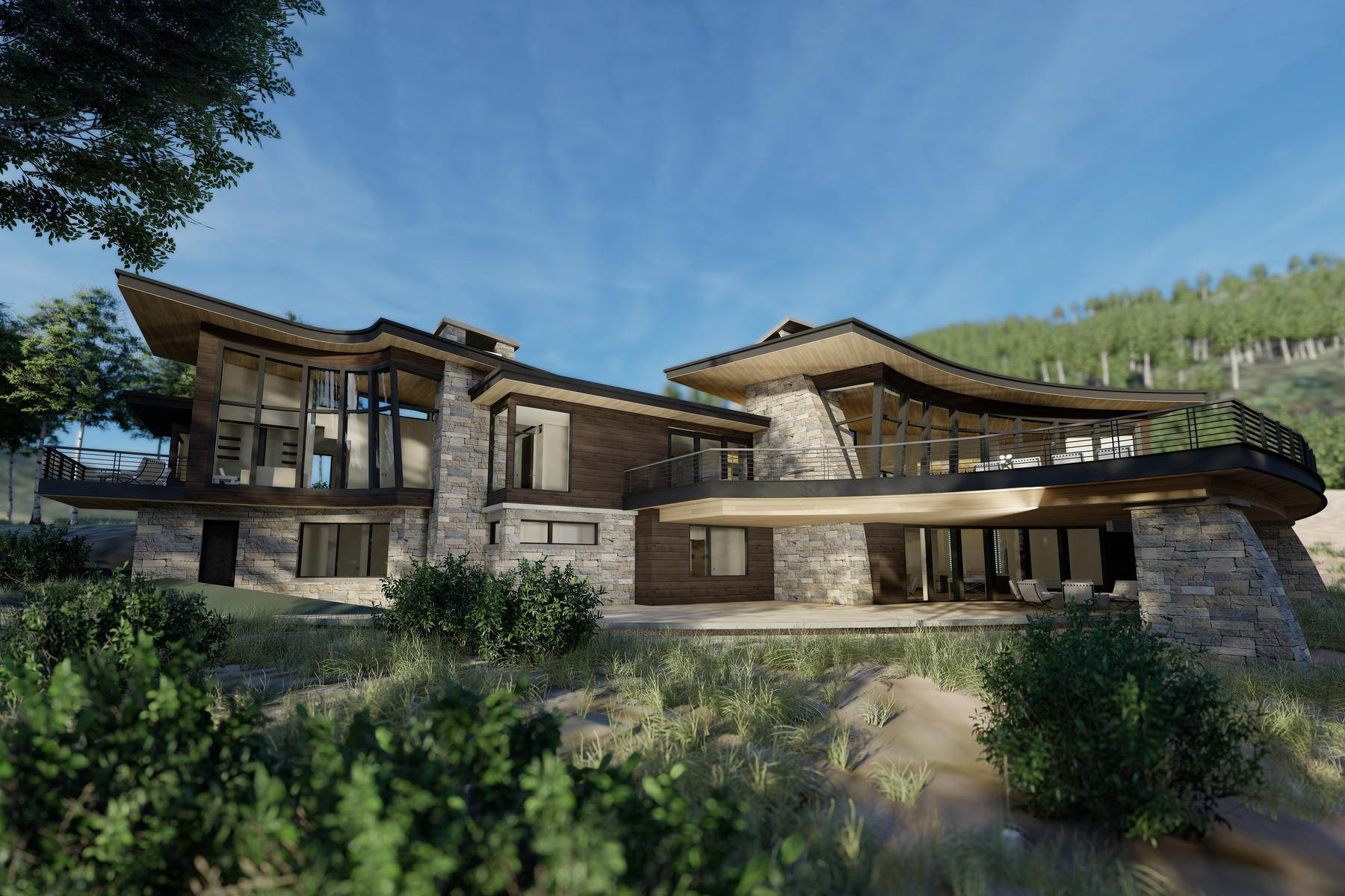 Single Family Homes pour l Vente à Luxury Has a New Address 256 White Pine Canyon Rd, Park City, Utah, 84060 États-Unis