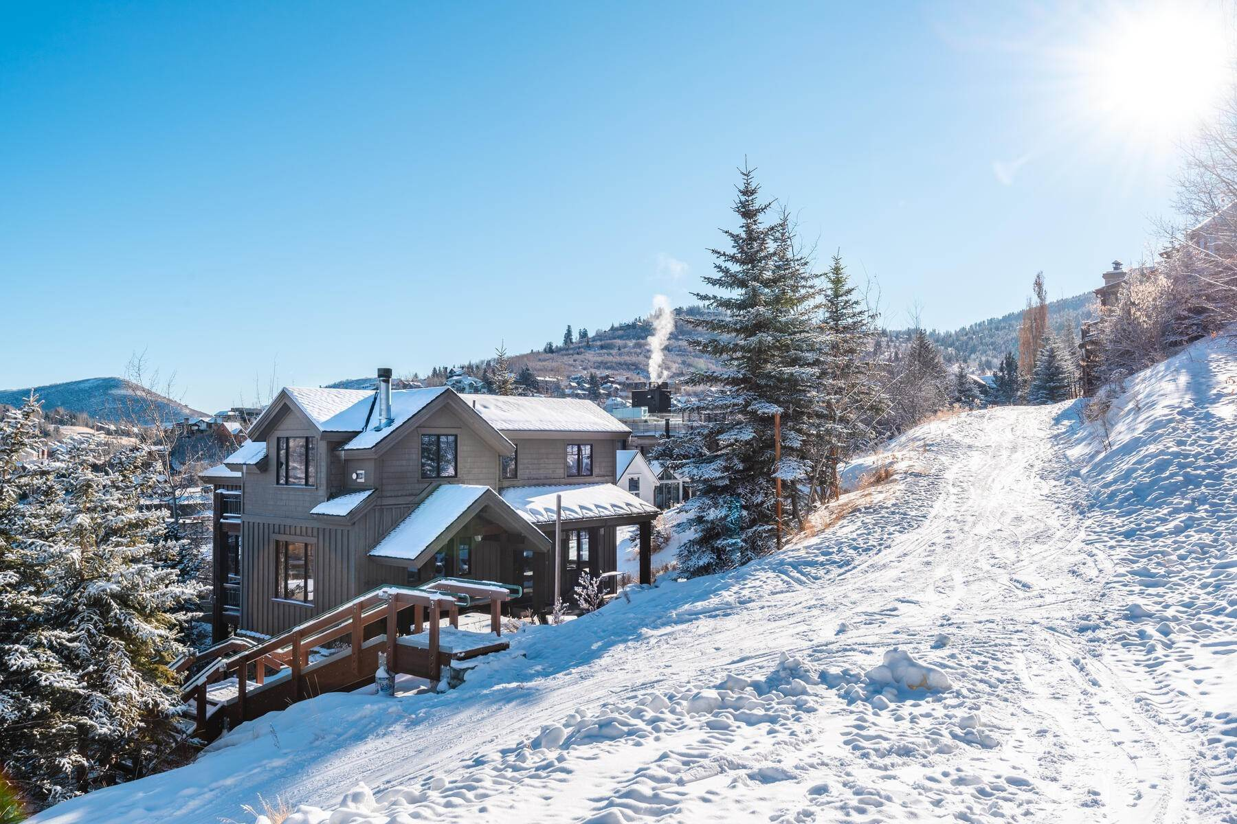 "Single Family Homes for Sale at ""The Woodside Estate."" Old Town, Park City's Ultimate True Ski-In Residence. 561 Woodside Avenue, Park City, Utah, 84060 United States"
