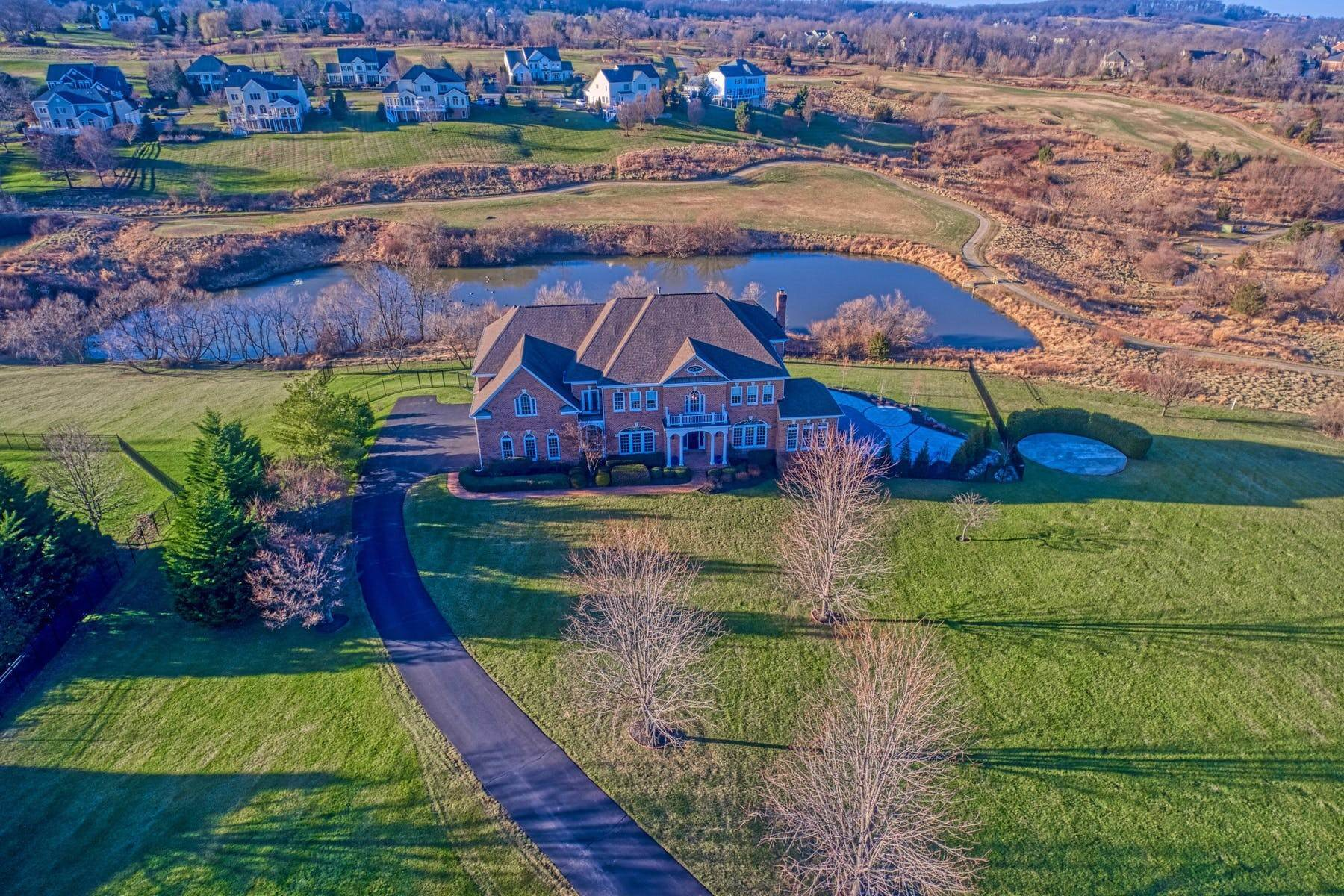 Single Family Homes for Sale at Stunning Executive Home 17285 Count Turf Place, Leesburg, Virginia, 20176 United States