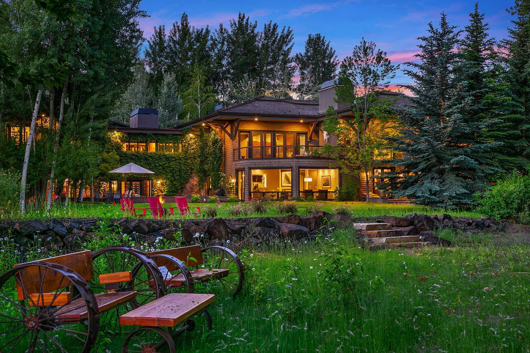 Single Family Homes for Sale at Riverfront Retreat Compound 221 & 225 Sutton Pl, Ketchum, Idaho, 83340 United States