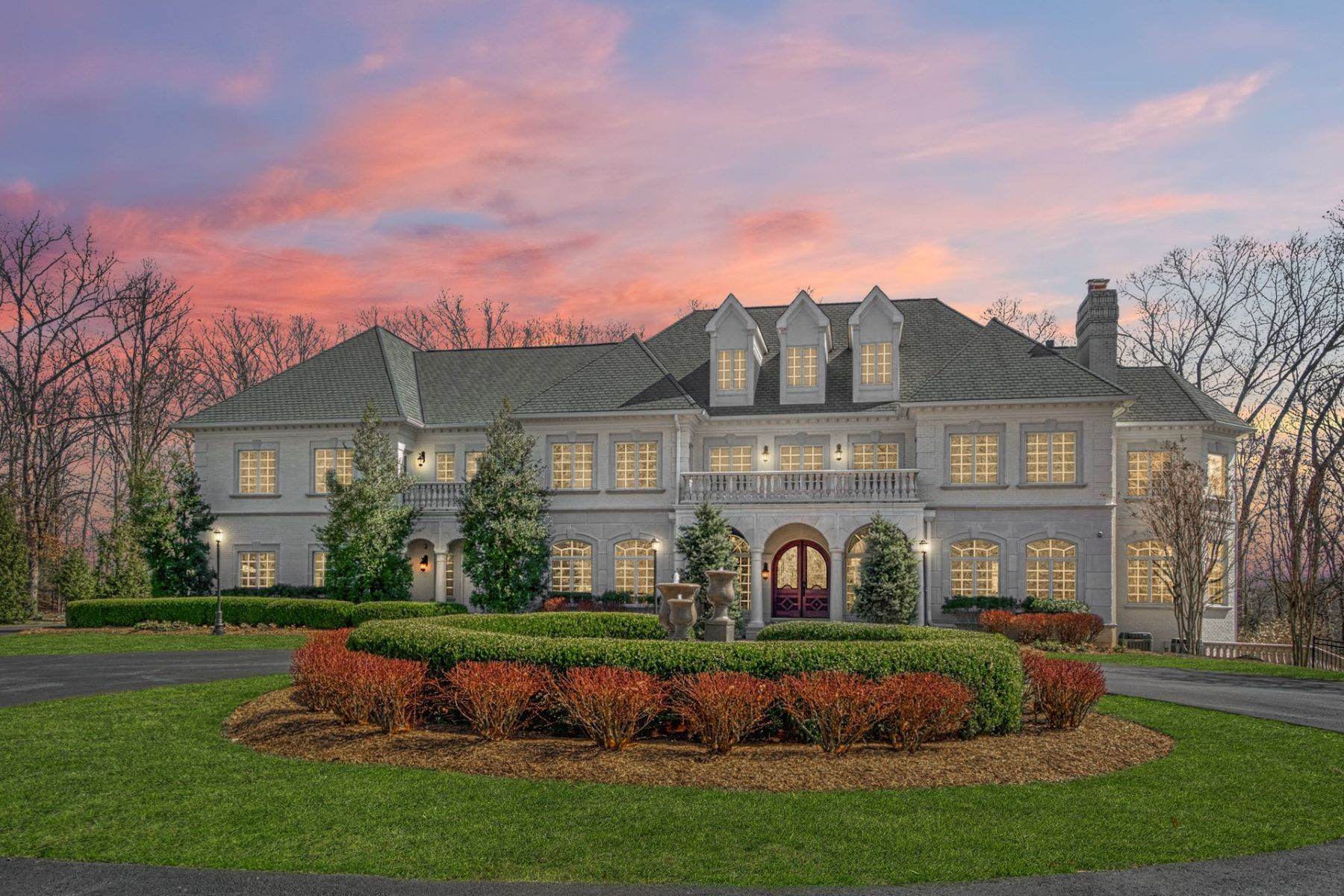 Single Family Homes for Sale at Dazzling French Eclectic Estate 18688 Riverlook Court, Leesburg, Virginia, 20176 United States