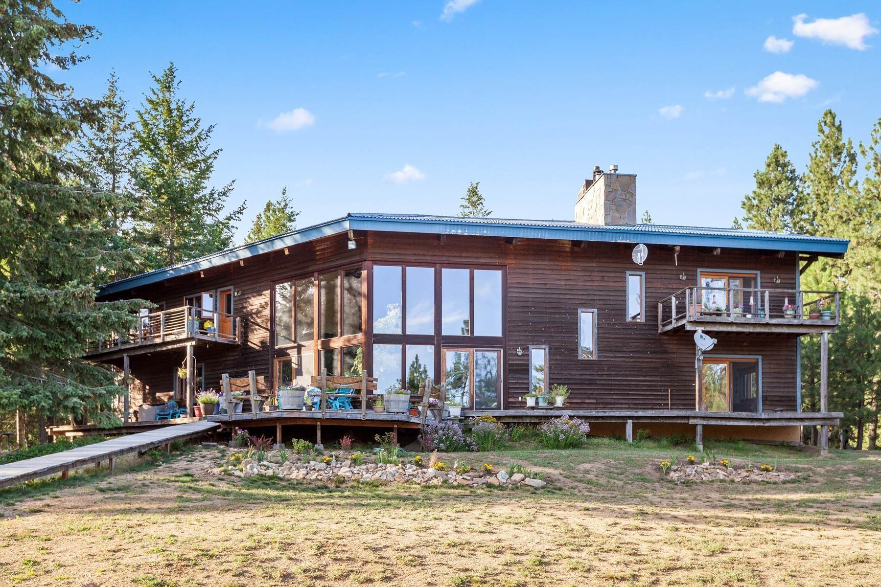 Single Family Homes for Sale at Extraordinary Mountain Modern home 20505 E Morris Ln, Otis Orchards, Washington, 99027 United States