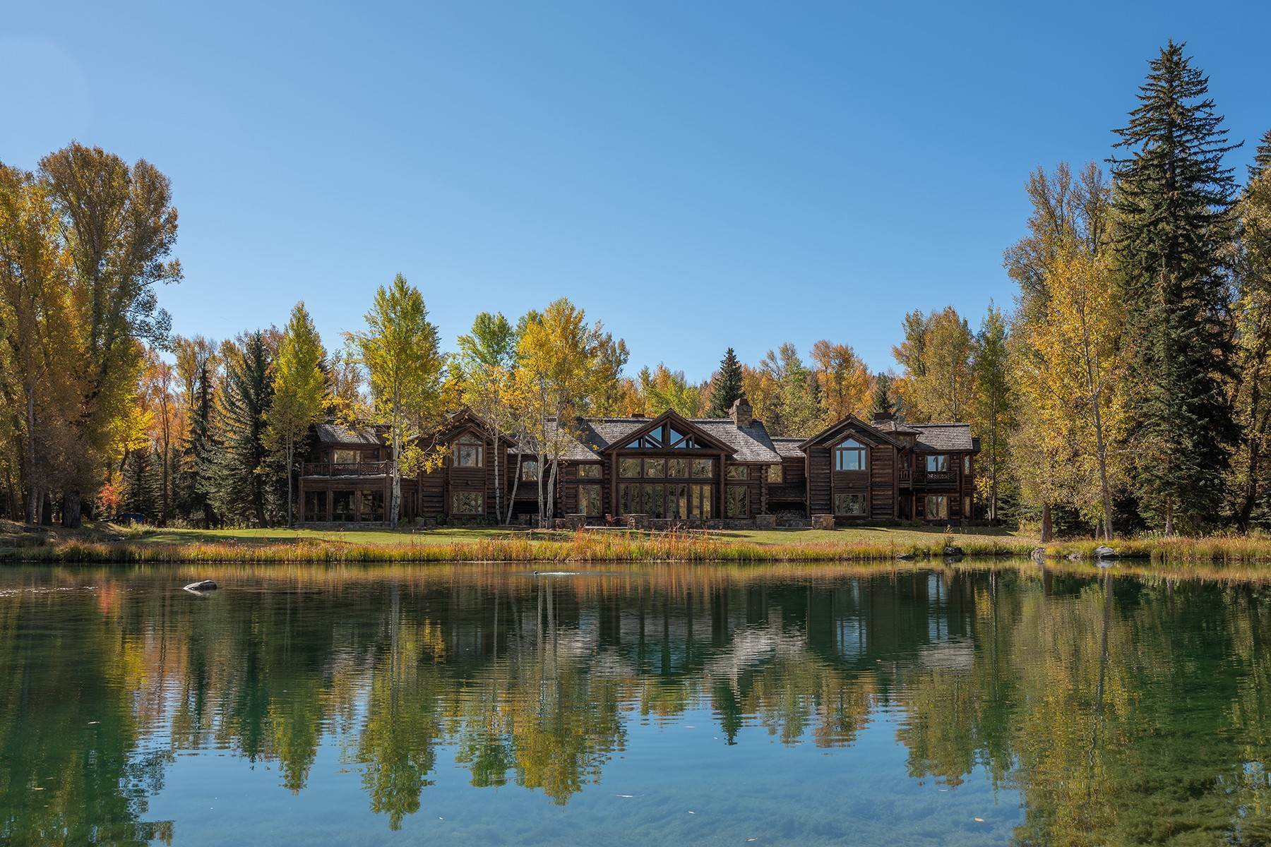 Single Family Homes for Sale at Elk Run Estate 1345/1245 Bugling Elk Trail, Jackson, Wyoming, 83001 Jackson Hole, United States