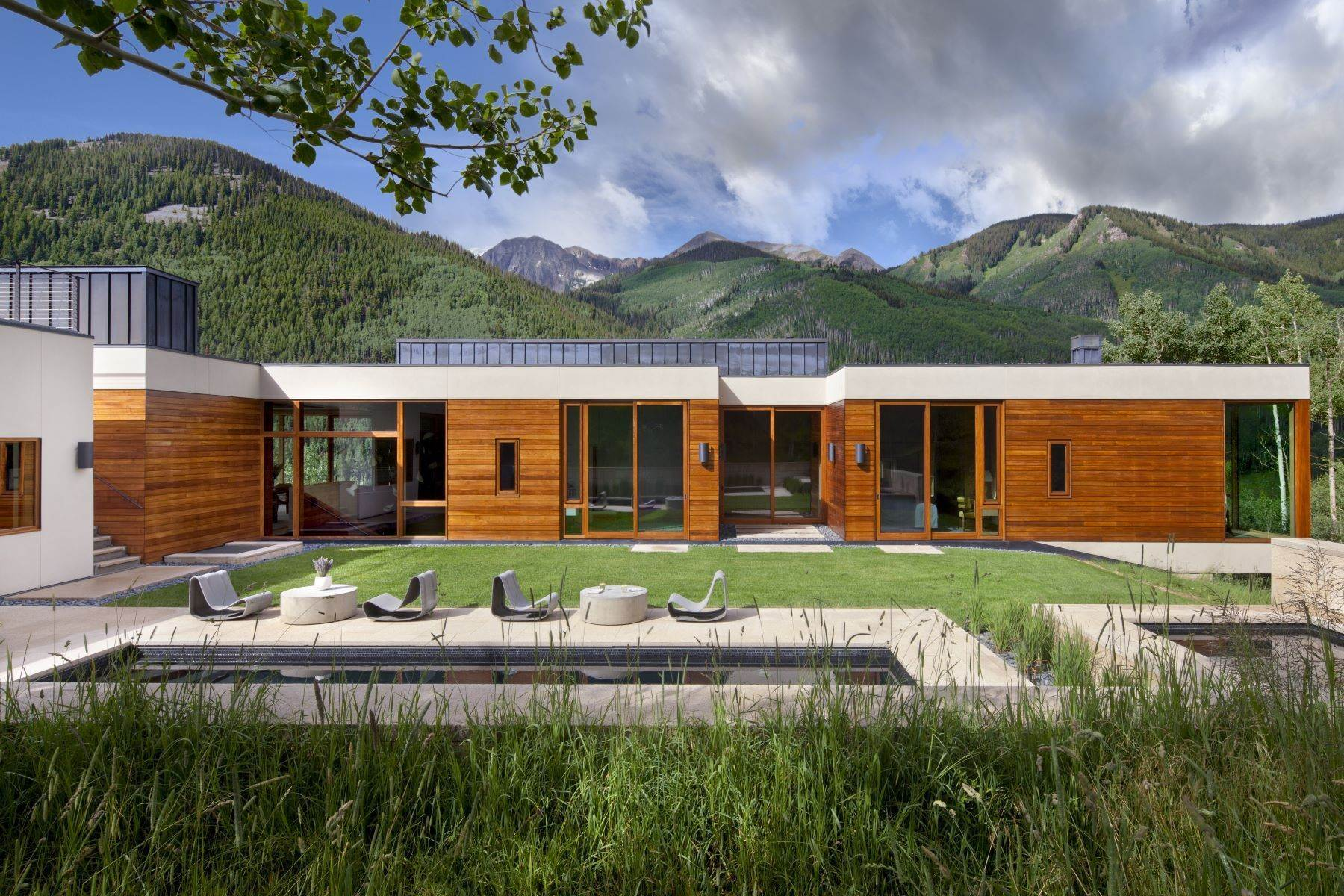 Single Family Homes for Sale at Exquisite Modern Sanctuary 8720/8716 Castle Creek Road, Aspen, Colorado, 81611 United States