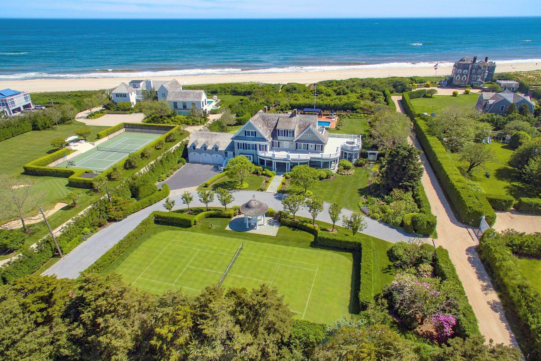 Single Family Homes for Sale at 'Ocean Dream' Estate With Pool & Tennis 5 Fair Lea (Aka 36 Gin Lane), Southampton Village, Southampton, New York, 11968 United States
