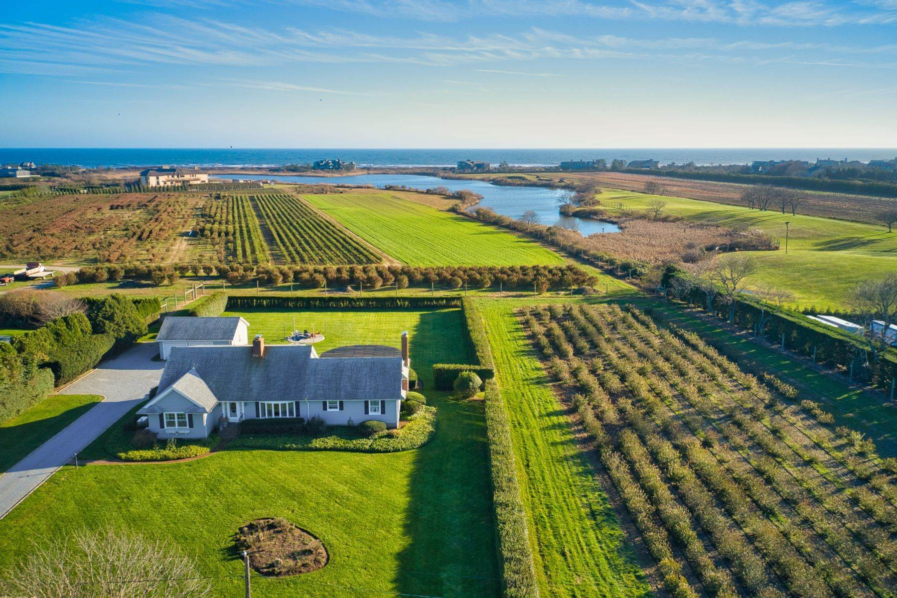 Terreno per Vendita alle ore Ocean, Pond, and Farm Views 508 And 522 Wickapogue Road, Southampton Village, Southampton, New York, 11968 Stati Uniti